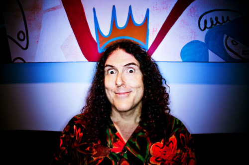 "rachelbeen:  Weird Al Yankovic. Seriously one of the nicest men I have met.   ^^ From the desk of our art director, Rachel Been. Weird Al stopped by the office last week, and in addition to revealing that he turned down ""Dancing With the Stars,"" he posed for individual pictures with no less than five editors here. Apparently Weird Al is a popular choice for first concert and/or first CD. Who knew?"