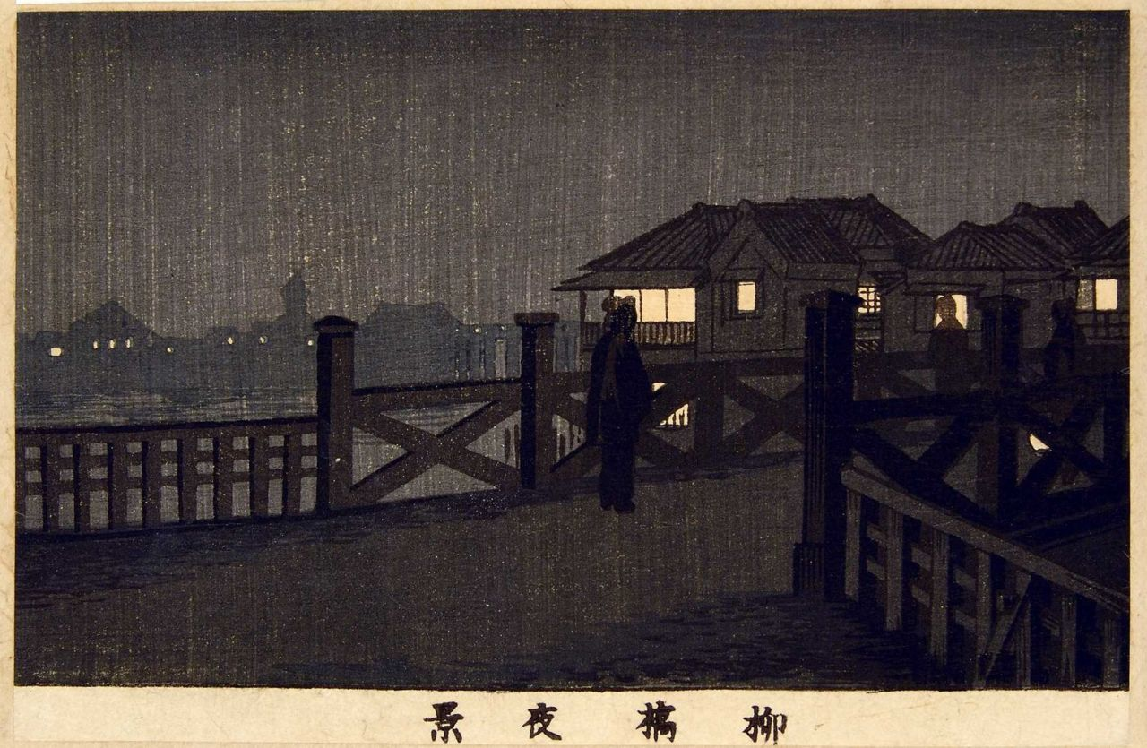 "安治(探景) Night Scene Yanagibashi"" Taiji"
