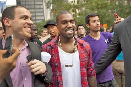 Kanye Makes an Appearance at Occupy Wall Street! Reach Susie Plascencia Here Follow Susie Plascencia Here