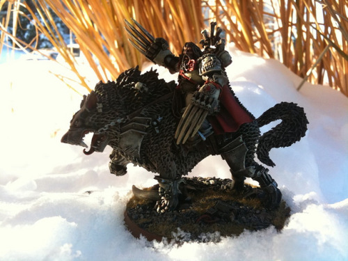 "Canis Wolfborn on Flickr.1st place ""space wolf painting competition"" winner in GW Fair Oaks on launch day. There's a stage-by-stage sequence of progress shots I took while painting this in one sitting at the store here: www.dakkadakka.com/dakkaforum/posts/list/259629.page#1093477"