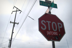 STOP SNITCHING Sticker - Portland, OR on Flickr.Via Flickr: Daily Graffiti Photos and Street Art Culture… www.EndlessCanvas.com Follow us… Facebook, Tumblr, YouTube, Twitter
