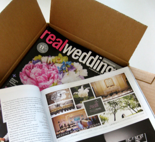 Just received our stack of the Fall 2011 edition of Real Weddings magazine!! Find us on Page 57 (sharing a page with our favorite Photobooth Vancouver!) x