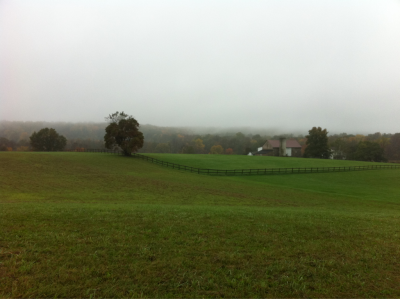 A misty Pennsylvania autumn morning