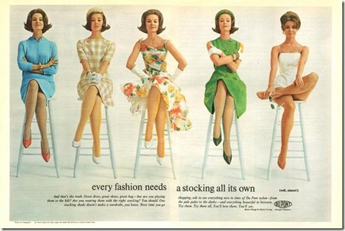 hollyhocksandtulips:  Dupont stocking advertisement, 1960's