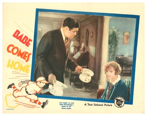 "1927 ""Babe Comes Home"" Lobby Card"