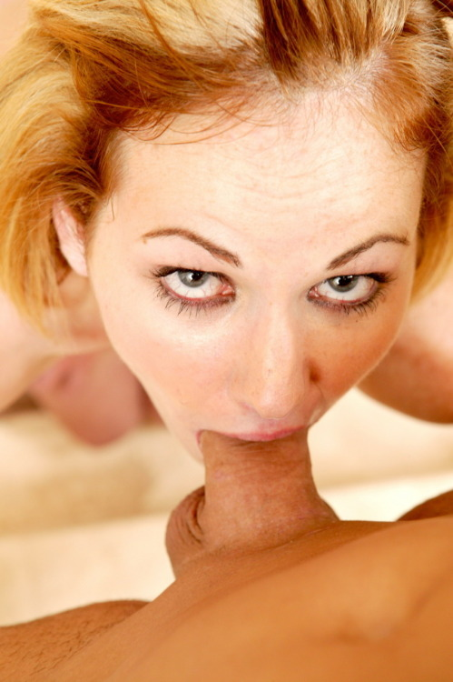 This cum queen is sure sucking it hard, look at the eyes!
