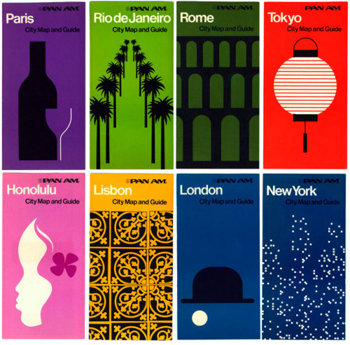 marrypotter:  Pan Am city guides from the early 70's
