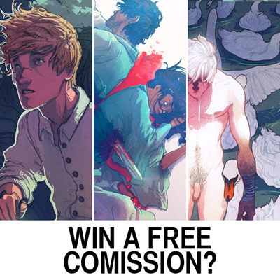 nondesignated:  Free commission contest! I've just opened up character commissions (click here for details) and I'm giving away one for free! Entering is simple - just reblog this post (limited to once a day) until Sunday at midnight GMT, and I will randomly choose a name from the list. The winner is free to pick any one type of commission from the list. In return, I get some publicity. Hopefully. Unless only one person reblogs this, in which case I seriously need to rethink my future.Ok? Ready, set, go - you have until Sunday to maximize your chances. Good luck!