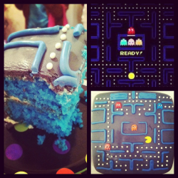 Made a Pacman Cake for my friend Brian's birthday!