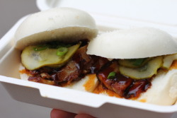 Chinese Pork Sliders from the Roaming Dragon food truck in Vancouver. To be honest, it was just all right. Maybe expectations are too high because of Chairman Bao.