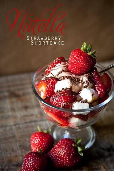 Nutella Strawberry Shortcake ~ The only thing I would change in this recipe is the Cool Whip…I prefer real thing :)