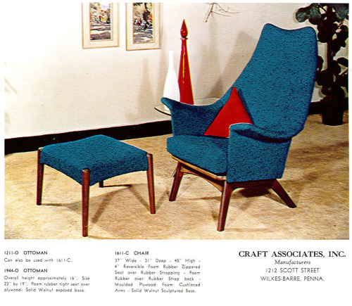 housingauthority: Adrian Pearsall lounge and ottoman.