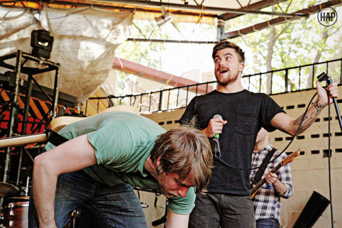 Brendan Ekstrom and Anthony Green of Circa Survive on Flickr. Soundcheck! The Mohawk Austin, TX 10-12-11  Go like my photo page.