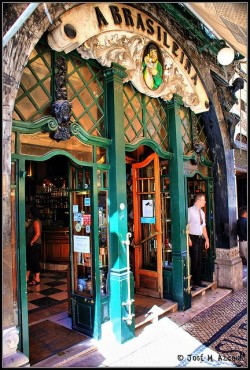 thatbohemiangirl:  My Bohemian World  A Brasileira, a famous cafe-bar in Lisbon's Chiado area