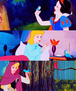 Perk of being a princess: bird BFFs