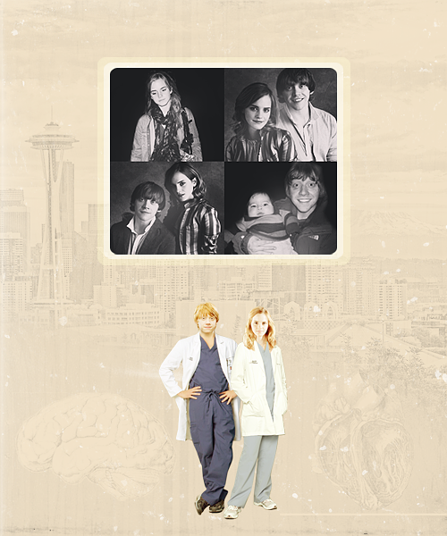 AU Meme | Ron & Hermione as muggle doctors in Seattle [Requested by sk8girl59]