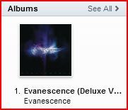 foreverwutt17:  Evanescence's album is at the top of the charts on iTunes.  badass!