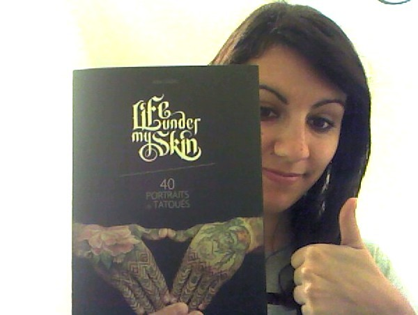 Yesterday I received this awesome book about tattoos. 40 portraits of people telling the stories behind their ink.