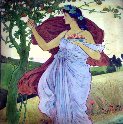 Autumn, Harvest Goddess by John Louis Rhead (1900).