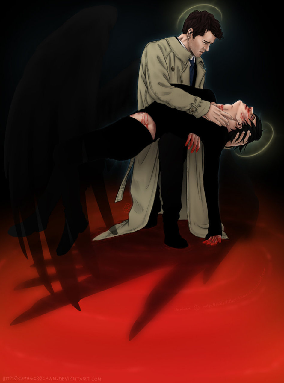 Supernatural fan art rec' of the day: Spn + OC for Hieislittlekitsune by Kumagorochan