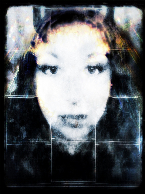 Lady Halo. Portrait of Jennifer Bracewell . Collaboration with her image and my edit # iPhoneography #iph100 on Flickr.