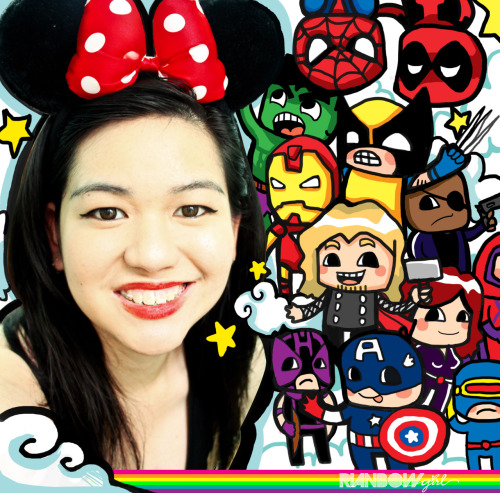 oh hello! just my awkward face and my Marvel fandom doodle. ♥