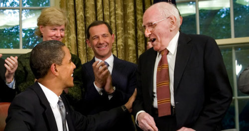 "LGBTQ* People You Should Know Franklin Kameny  Pioneering Gay Rights Leader (By DAVID W. DUNLAP — from New York Times:) Franklin E. Kameny, who transformed his 1957 arrest as a ""sexual pervert"" and his subsequent firing from the Army Map Service into a powerful animating spark of the gay civil rights movement, died on Tuesday at his home in Washington. He was 86.   A half-century ago, Mr. Kameny was either first or foremost — often both — in publicly advocating the propositions that there were homosexuals throughout the population, that they were not mentally ill, and that there was neither reason nor justification for the many forms of discrimination prevalent against them. Rather than accept his firing quietly, Mr. Kameny challenged his dismissal before the Civil Service Commission and then sued the government in federal court. That he lost was almost beside the point. The battle against discrimination now had a face, a name and a Ph.D. from Harvard. Though he helped found the Mattachine Society of Washington, an early advocacy group, Mr. Kameny was not content to organize solely within the gay community. He welcomed and exploited the publicity that came from broader — if foredoomed — political efforts, like running in 1971 for the delegate seat representing the District of Columbia in the House of Representatives. He also claimed authorship of the phrase ""Gay is good"" a year before the 1969 Stonewall uprising in New York, widely regarded as the first milestone in the gay rights movement. Many of the tributes that began to appear on the Web on Wednesday noted that Mr. Kameny's death coincided with National Coming Out Day. (picture also from NYTimes - Caption reads: President Obama with Franklin Kameny, right, in 2009 after signing a memorandum providing benefits to the same-sex partners of federal employees.)"