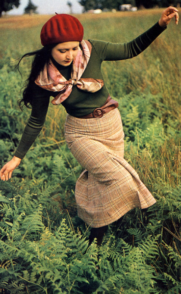 superseventies:   Fashion in the outdoors for Petticoat magazine, November 1974. Photo by Bill Klein.