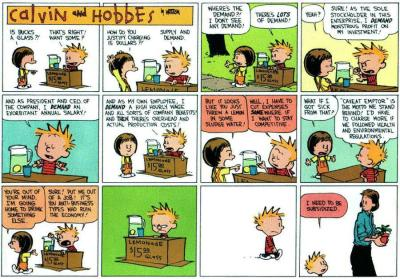 "savageinasuit:  ""Calvin & Hobbes explain causes of Occupy Wallstreet, 20 years ago""(punchline and image via reddit)"