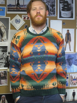 PARK AND BOND editor Jared Flint in a mid-90's Polo Sport sweater. Legit.  (Via parkandbond)