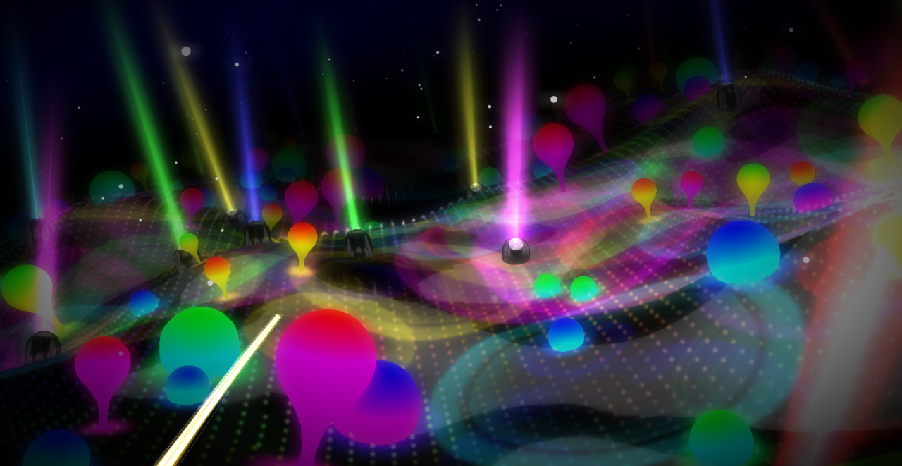 Lights - Interactive Music Promo Made In WebGL For Ellie Goulding's Song If you have a modern web browser, this is recommended - other than the great stylish neon landscape, if you tweet it, your twitter name and avatar could appear in it :) Try it here