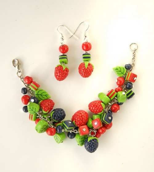 Del Moro's handmade jewelry - с серёжками - polymer clay fimo by Del Moro on Flickr.Blackberries