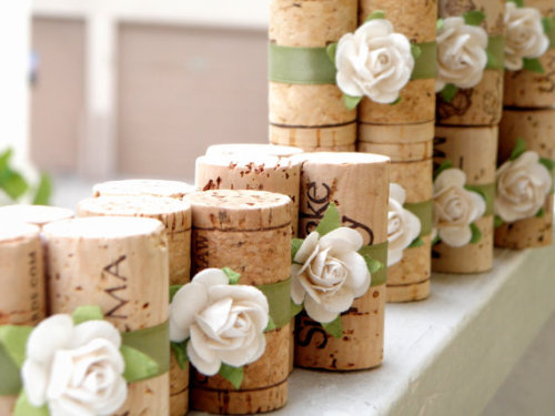 Ivory & Sage Place Card Holders Vineyard by LovelyWeddingDetails