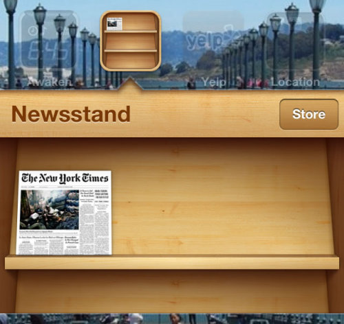 littlebigdetails:  Newsstand - The cover of each publication updates automatically in both the icon and the popup. /via lifeasamotionpicture  I wish It also had a feature that let me fucking delete it.
