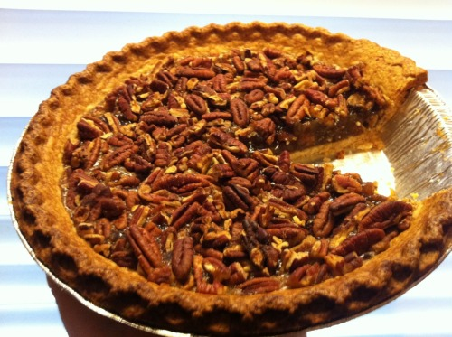 I've been craving pecan pie for a while and this is the very first pie I have ever made myself. Luckily for me, I was very happy it turned out tasting incredible. Since the recipe reviews said that some of them came out gelatinous, I was a little worried about how it would hold up. This one wasn't at all. Maybe they didn't cook the mix long enough or something? Maybe I'll make one of these for my family and not let them know its vegan?