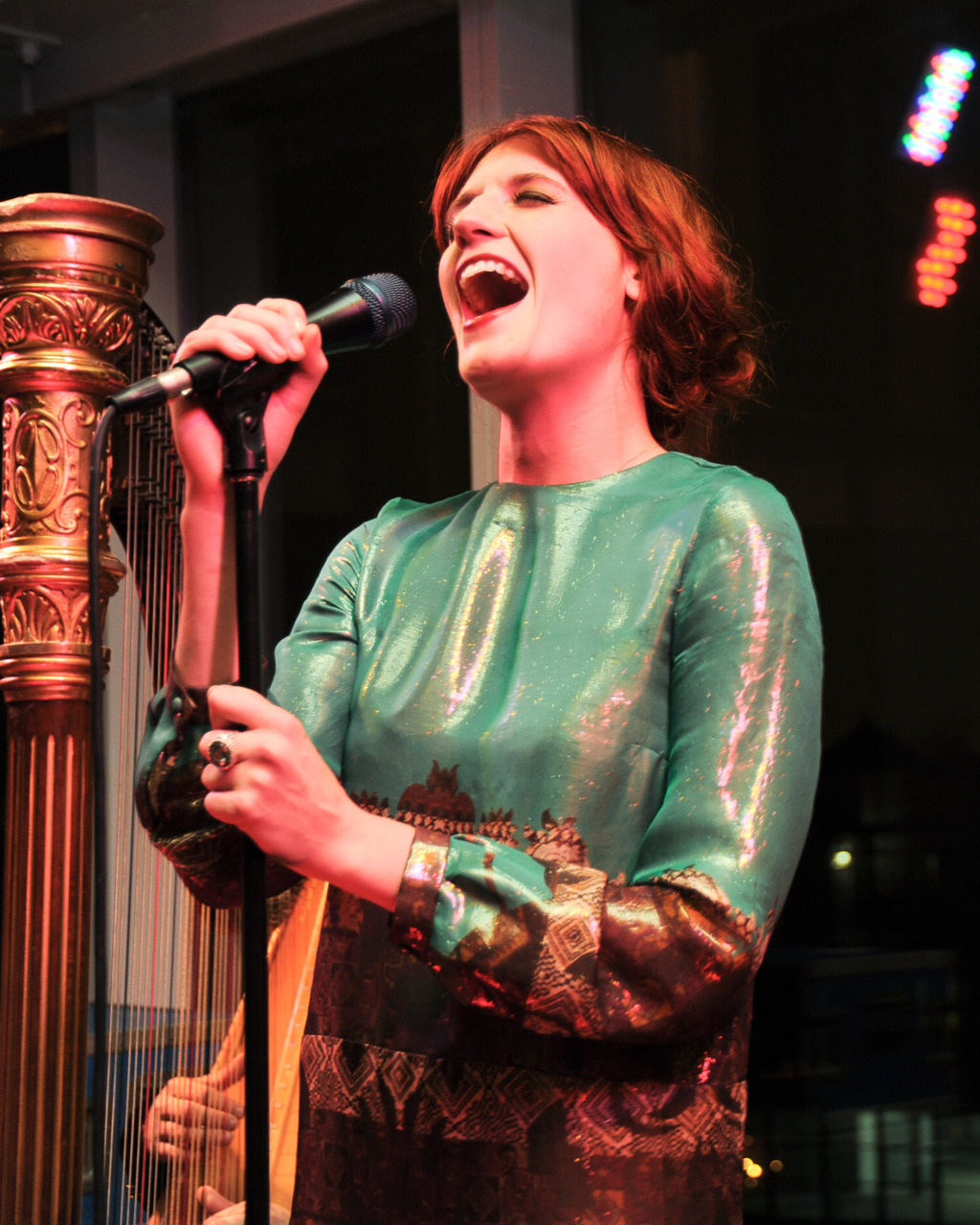 Florence + The Machine perform at The Standard, New York last night. More here.
