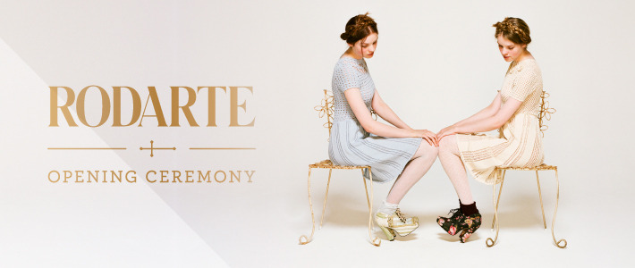 We're all a flutter over the new Rodarte for Opening Ceremony collaboration! Dramatic lines and full silhouettes is what this brightly coloured Scandenavian-inspired collection brings to the fashion plate. We think dressing like a Rivendell native has never looked better.