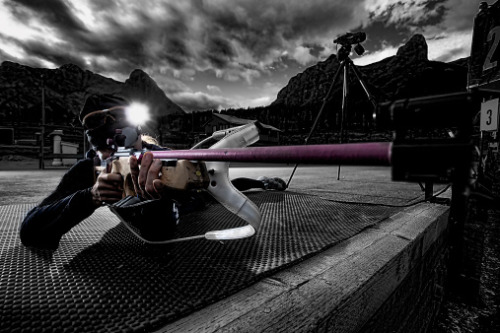Right on target with a biathlon shooter.   Imagery by Ascent Xmedia.