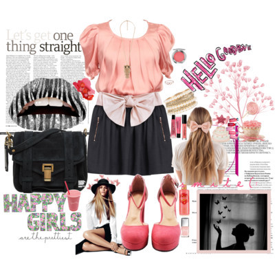 shirts & blouses pouch handbags hair clip accessories high heel shoes satin skirt fashion style Mulberry Proenza Schouler Kismet Forever21 American Apparel Chantecaille Philosophy Victoria& 039;s Secret Christian Dior Juicy Couture Essie polyvore