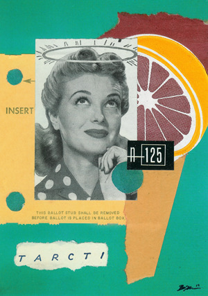 'Librarian N-125' - Collage on Card Stock 2011 http://www.facebook.com/hoop.and.stick.art http://society6.com/hoopandstick