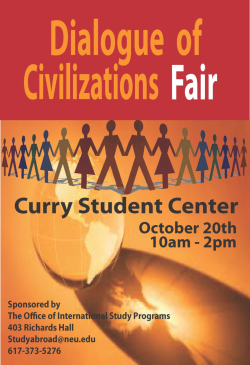 Come join us for our Dialogue of Civilizations Fair!
