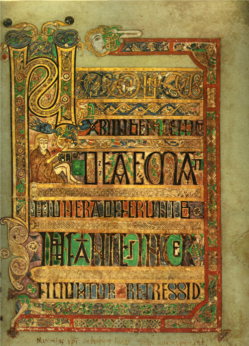 "ratanting:  Beginning of Breves causae of Matthew The Book of Kells is over 1,200 years old. Said to be ""the work of Angels"", it contains over 300 pages of scripture and intricate illustrations of the four gospels of the New Testament, written and painted entirely on calf skin (Vellum). As the Roman Empire fell and the Romans fled Britain, violent Anglo-Saxon invaders conquered much of the land, purging Britain into the dark ages. Enforcing their uncivilised and pagan beliefs on the native people, the Germanic tribes drove out Christianity and what remained of Roman Britain.   In Ireland, and the Celtic regions of Britain however, Christiantity was flourishing, and with it all the civilised and classical culture, learning and writing, first introduced by the Romans. It was during this period, in monasteries throughout Northern England and Scotland, that the Book of Kells was created."