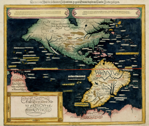 Sebastian Munster, 1590, North & South America