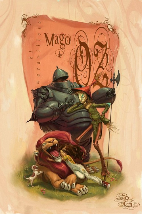 "fairytalemood:  ""Wizard of Oz"" by Sebastian Giacobino"