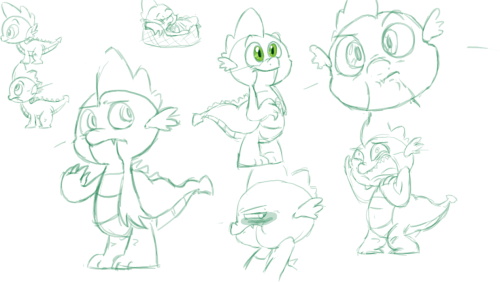 yay9000:  Spike doodles!! First time actually sitting down and drawing him so yay now I need to sit down and draw the other characters in the show…. FUQING…..