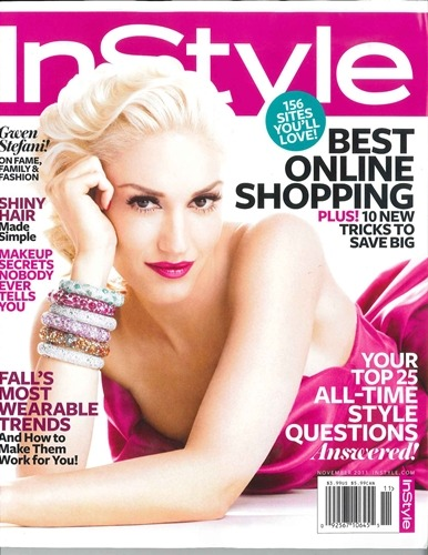 Gwen Stefani on the cover of the November @InStyle [!!]