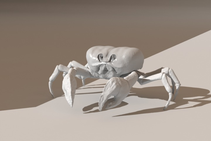Zbrush displacement pass on a crab I'm putting together for a special project. Next is texturing and shading.