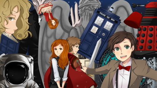 oh sweet time lord I finished it orz orz Doctor Who Season 5 & 6 (but not all of it, really) in one pic, guys personally, I love how the cyberman turned out. The astronaut can go hide in the Pandorica for all I care.