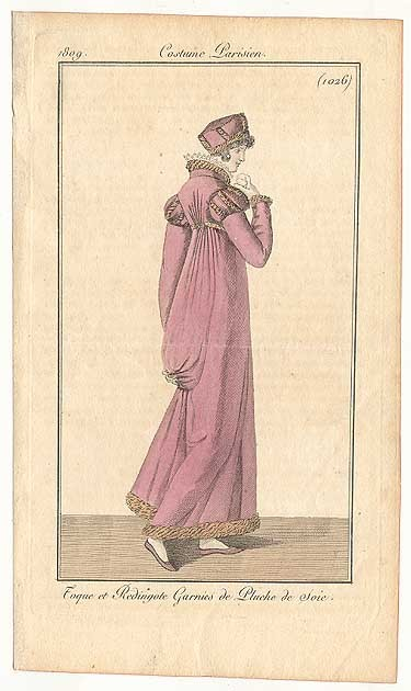 Journal des Dames et des Modes, 1809.  Beautiful!  I love that standing collar!