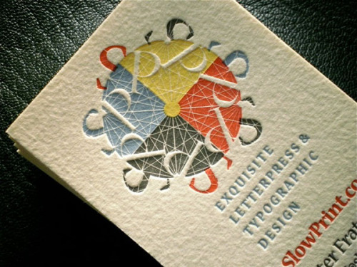 (via 50 Fresh Letterpress Business Cards - DesignModo)